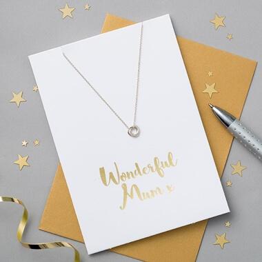 Wonderful Mum Card And Necklace Set