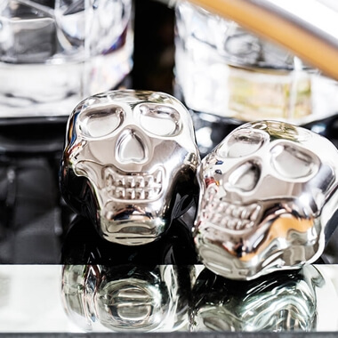 Stainless Steel Skull Ice Cubes