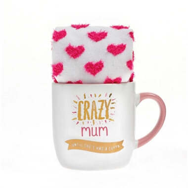 Crazy Mum Mug And Sock Set
