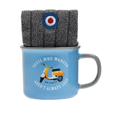 Moped Mug And Sock Set