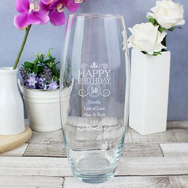 Personalised Birthday Vase
