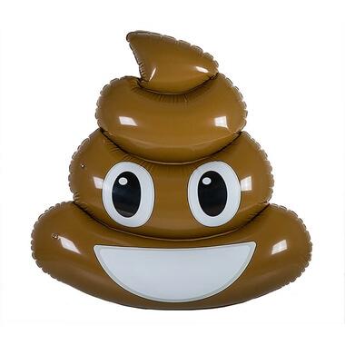 Inflatable Poo Emoji Pool Float