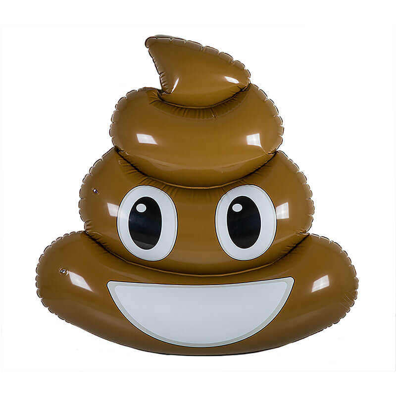 Inflatable Poo Emoji Pool Float