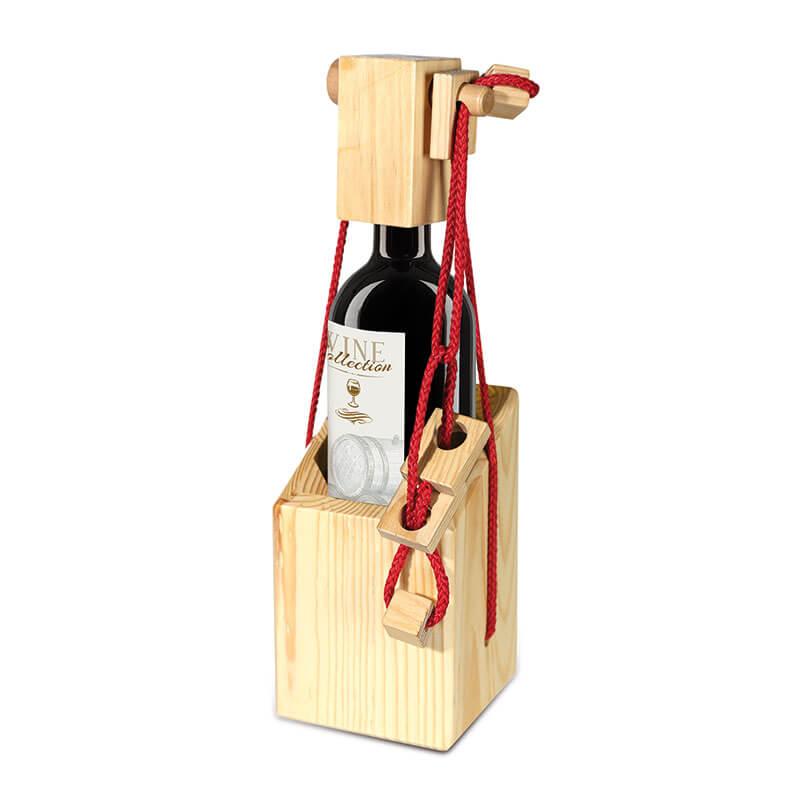 Magic Lock Wooden Bottle Holder
