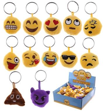 Emoji Plush Key Chain With Sound