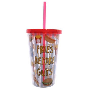 Fast Food Cup With Straw And Lid - Fries Before Guys