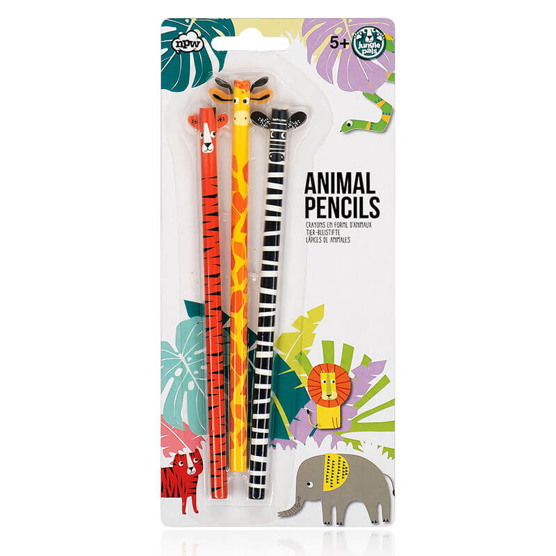 Jungle Pals Animal Pencils