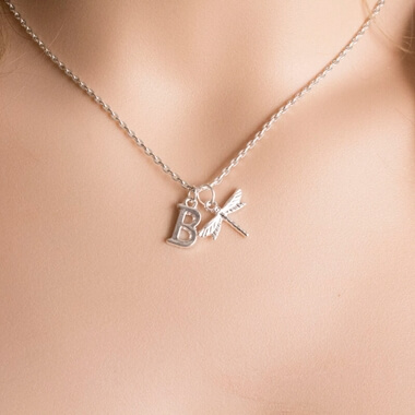 Personalised Dragonfly Necklace