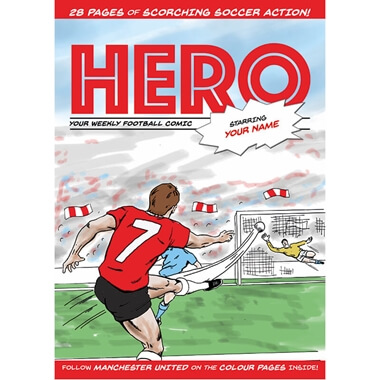 Personalised Football Comic