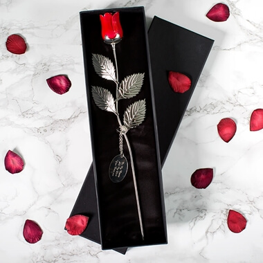 Personalised Silver Plated Rose & Love Gifts and Romantic Gifts Ideas for Him and Her From Prezzybox.com