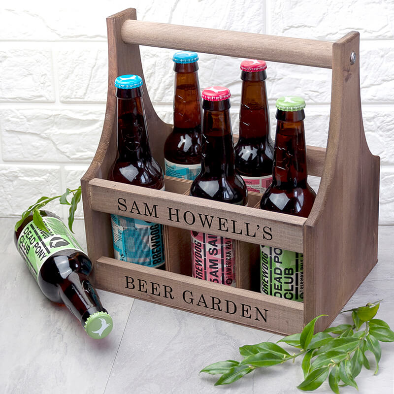 Personalised garden beer trug buy from for Gardening gifts for him