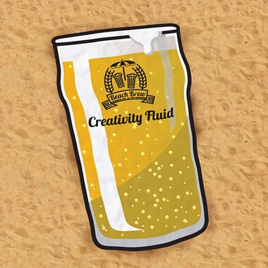 Beer O'Clock Pint Beach Towel
