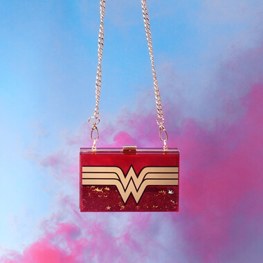 Wonder Woman Glitter Cross Body Bag