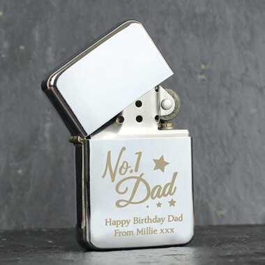 Personalised No1 Dad Lighter