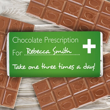 Personalised Prescription Chocolate Bar