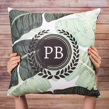 Personalised Banana Leaf Cushion