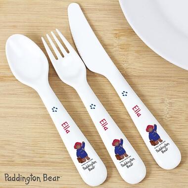 Personalised Paddington Bear Cutlery Set
