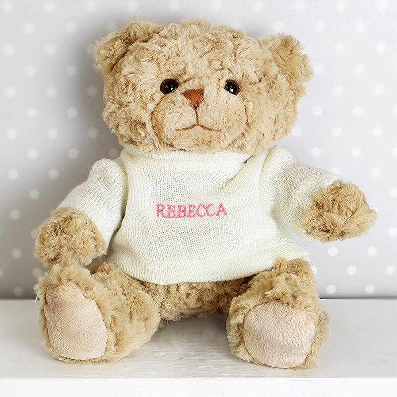 Personalised Teddy Bear - Pink Name