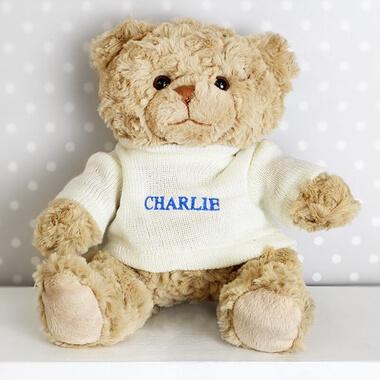 Personalised Teddy Bear - Blue Name