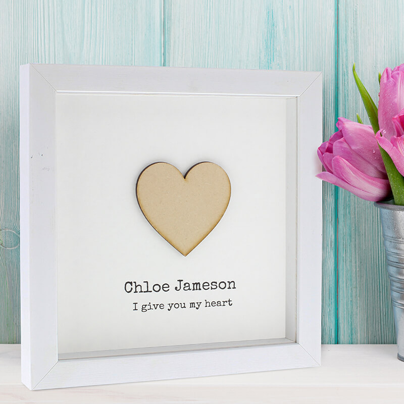 Personalised I Give You My Heart Frame - Buy from Prezzybox.com