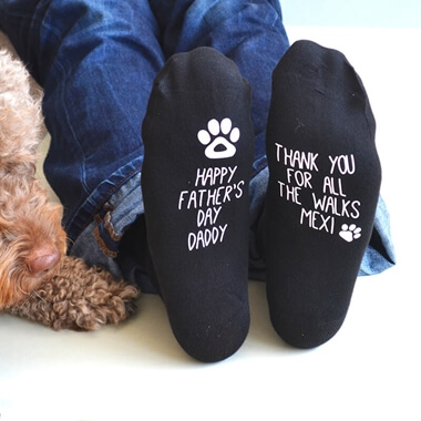 Personalised Father's Day Socks From The Dog