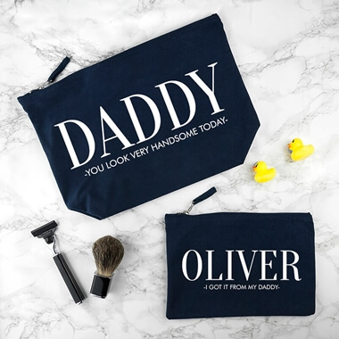 Personalised Daddy And Me Wash Bag