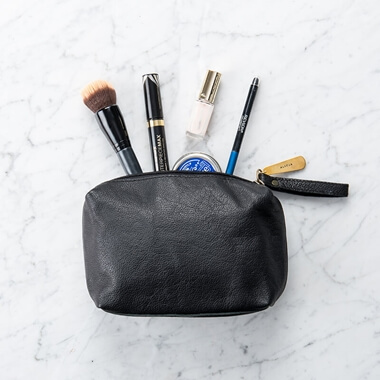 Personalised Leather Make Up Bag