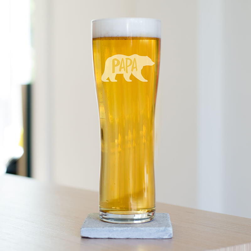 Papa Bear Beer Glass