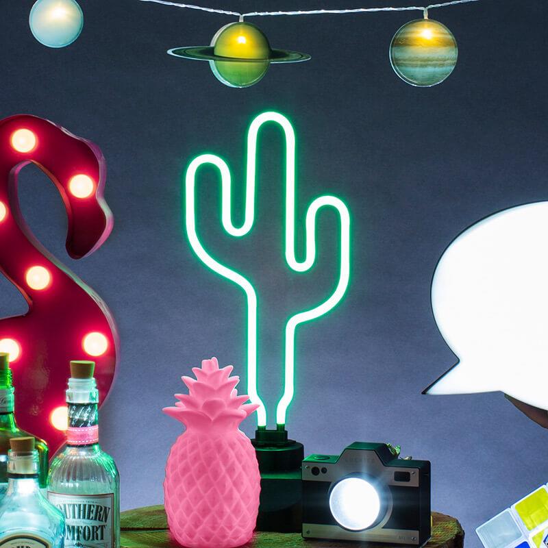 Neon Cactus Lamp