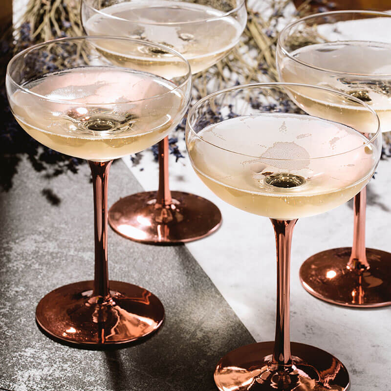 Soiree Vintage Champagne Saucer - Set Of 4