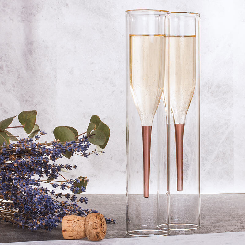 Soiree Inside Out Champagne Flutes - Set Of 2