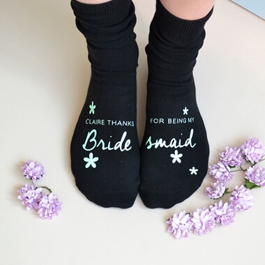 Personalised Be My Bridesmaid? Socks
