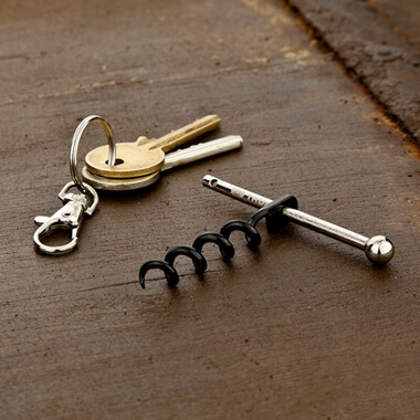 Twistick - Fully Functional Corkscrew  Keyring