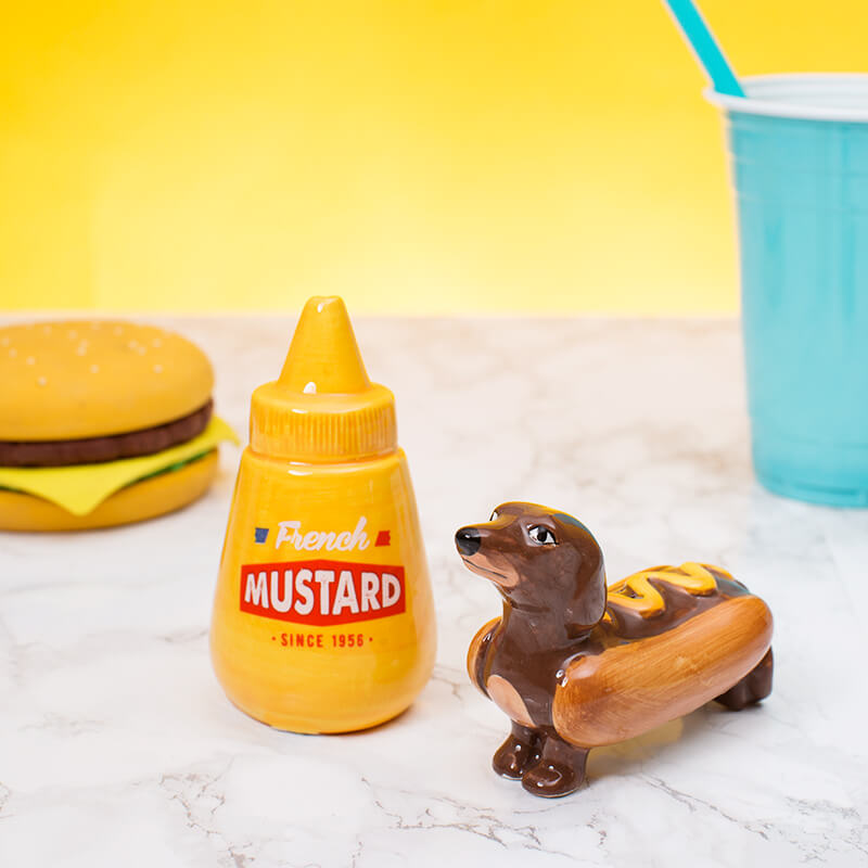 Hot Dog And Mustard Salt And Pepper Set