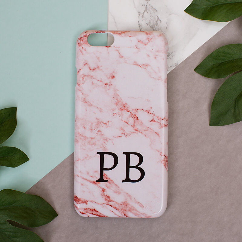 info for 8b306 df2fb Personalised Pink Marble Phone Case