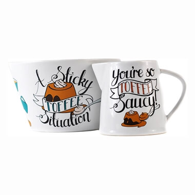 Sticky Toffee Pudding Jug & Bowl Set
