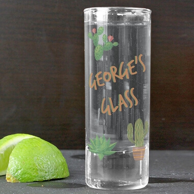 Personalised Cactus Shot Glass