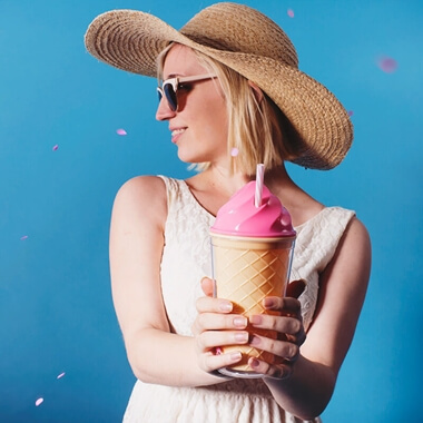 Ice Cream Travel Cup - Pink