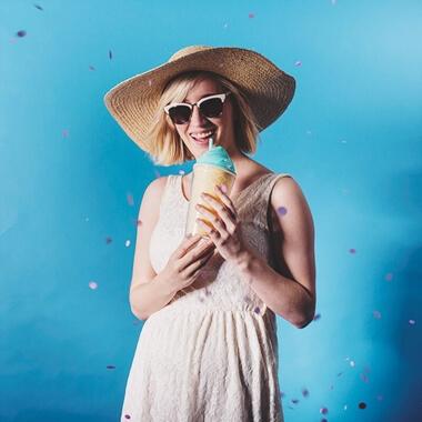Ice Cream Travel Cup - Blue