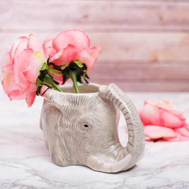 Elephant Head Shaped Mug