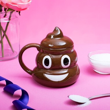 Emotive Poop Mug  With Lid