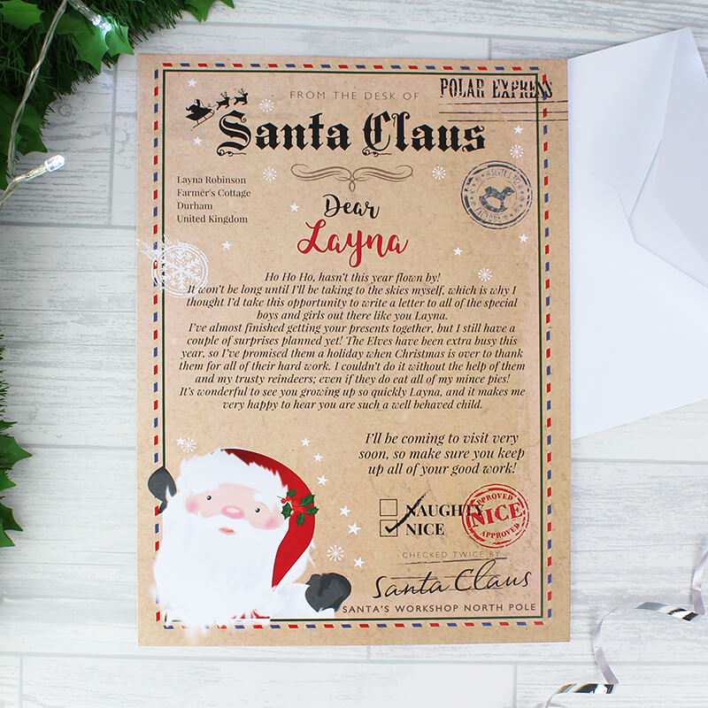 santa claus letter personalised santa claus letter buy from prezzybox 11808