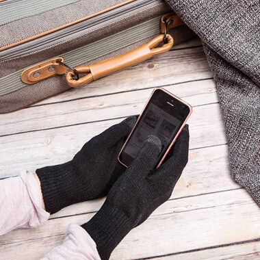 Smartphone Gloves - Medium Black