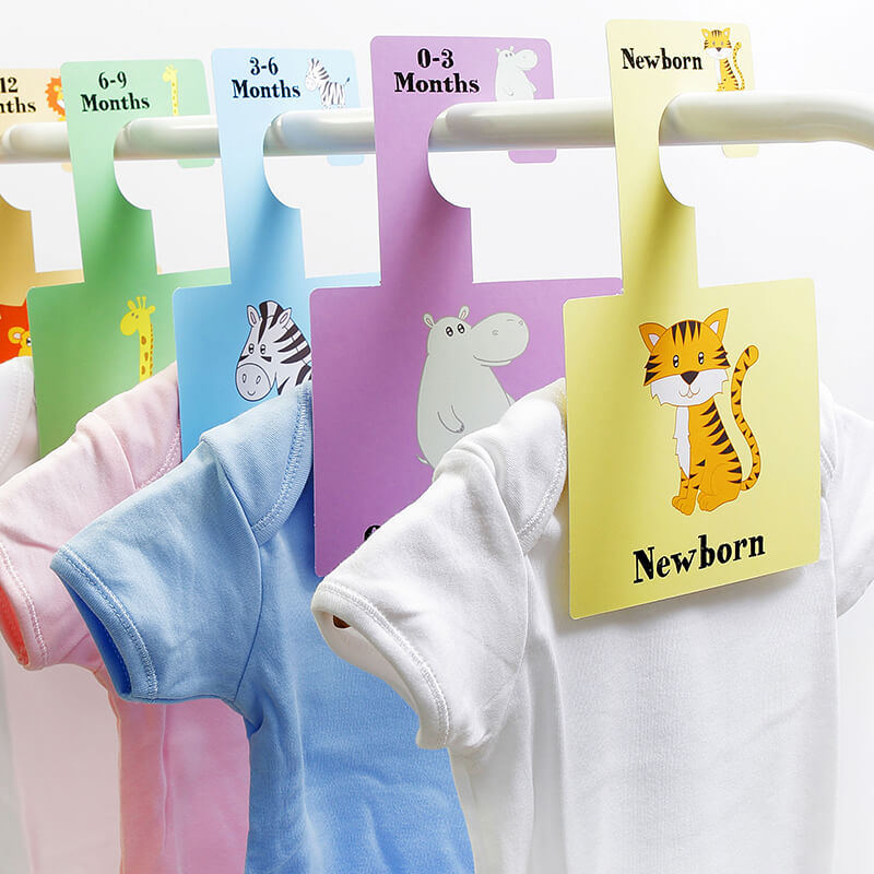 Baby Wardrobe Dividers - Safari Animals