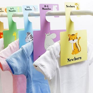 Baby Wardrobe Dividers - Safari Animals