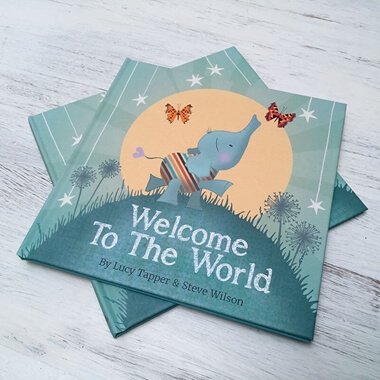 Welcome To The World - Hardback New Baby Arrival Book
