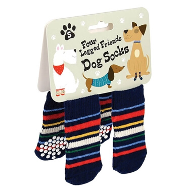 Stripy Dog Socks - Small