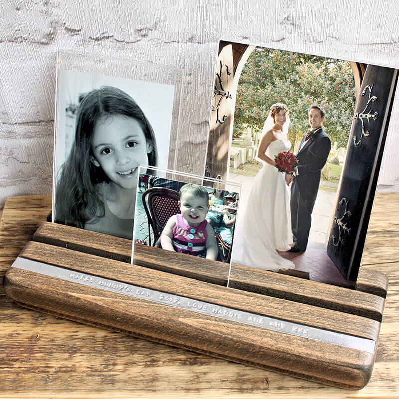 Personalised Beech Photo Collage Frame