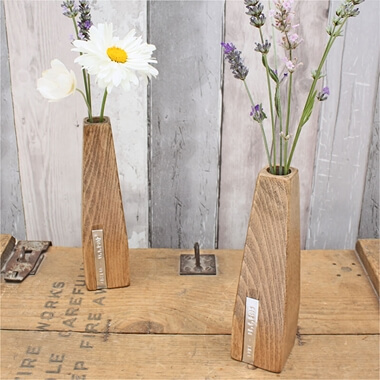 Personalised Beech Vases