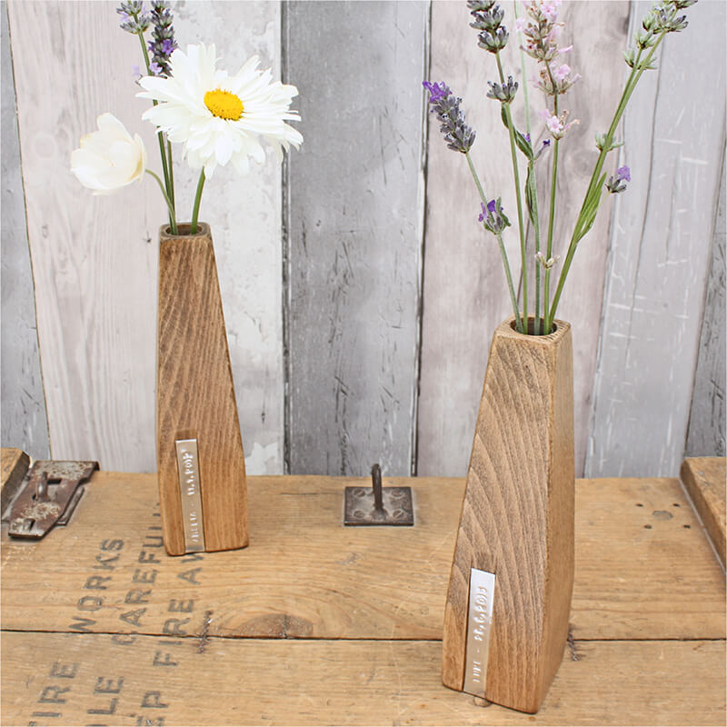Pair Of Personalised Beech Vases Buy From Prezzybox